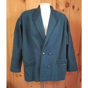 Geiger Women's Wool Jacket Blazer Green Size 38